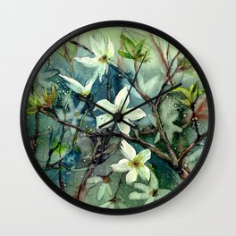 Early Spring Flowers Wall Clock