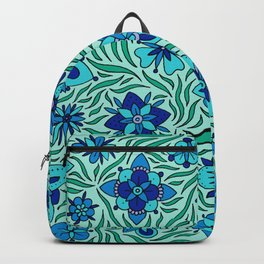 Summer Flowers Green Backpack