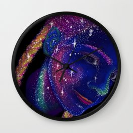 Star Braids Wall Clock