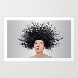 Assez des cheveux SECS  Art Print