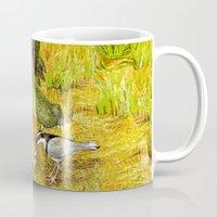 crocodile Mugs featuring Crocodile by Natalie Berman