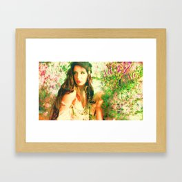 Fairy feather wood nymph ladykashmir  painting , Framed Art Print