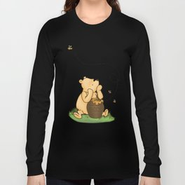 Classic Pooh with Honey - No background Long Sleeve T-shirt
