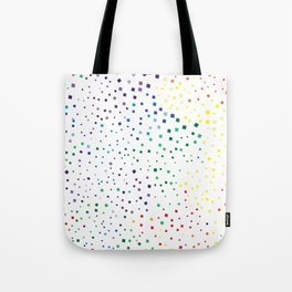 rainbow color geometric Tote Bag