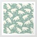Merry Christmas - Polar bear - Animal pattern by betterhome