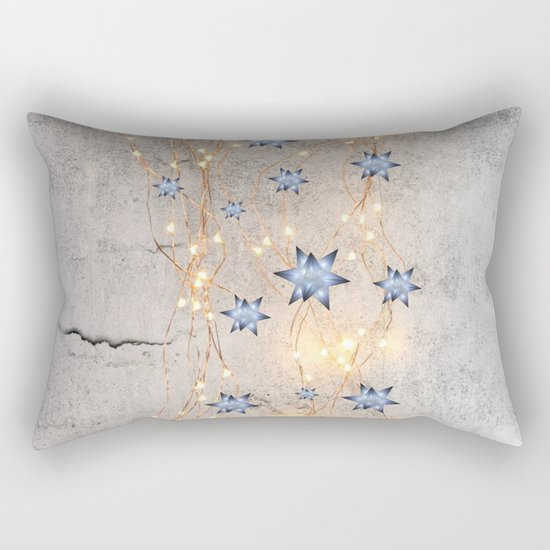 Star Wall | Christmas Spirit Rectangular Pillow