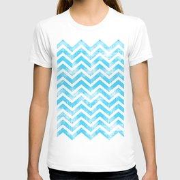 Maritime Aqua Teal Chevron Herringbone ZigZag - Mix & Match T-shirt