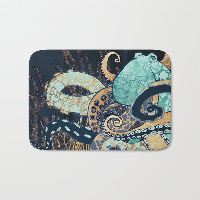 Metallic Octopus II Bath Mat