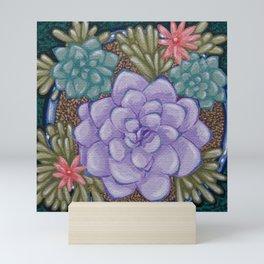 Little Succulent Garden Mini Art Print