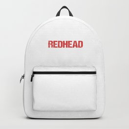 I Love A Redhead Red Hair Ginger Redheads Freckles Gift Backpack