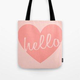 Hello Heart Wall Art #6 Peaches Tote Bag