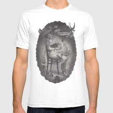 Lady Luck MEDIUM Mens Fitted Tee White