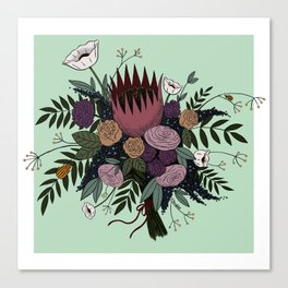 Beetles and Flowers Canvas Print
