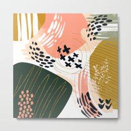 Brushstrokes abstract art III Metal Print