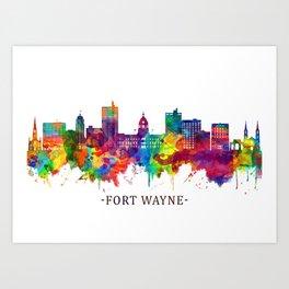 Fort Wayne Indiana Skyline Art Print
