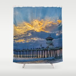 Shadows in the Sky Shower Curtain