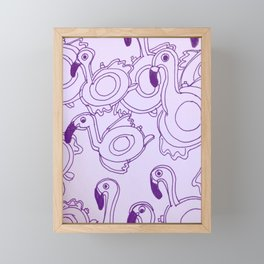 Flamingos Framed Mini Art Print