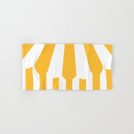 yellow tent Hand & Bath Towel