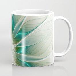Floral Lights, Abstract Fractal Art Coffee Mug