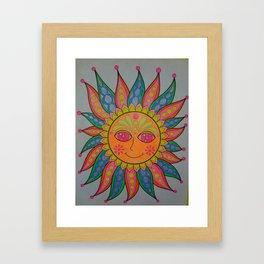 Trippy sun Framed Art Print