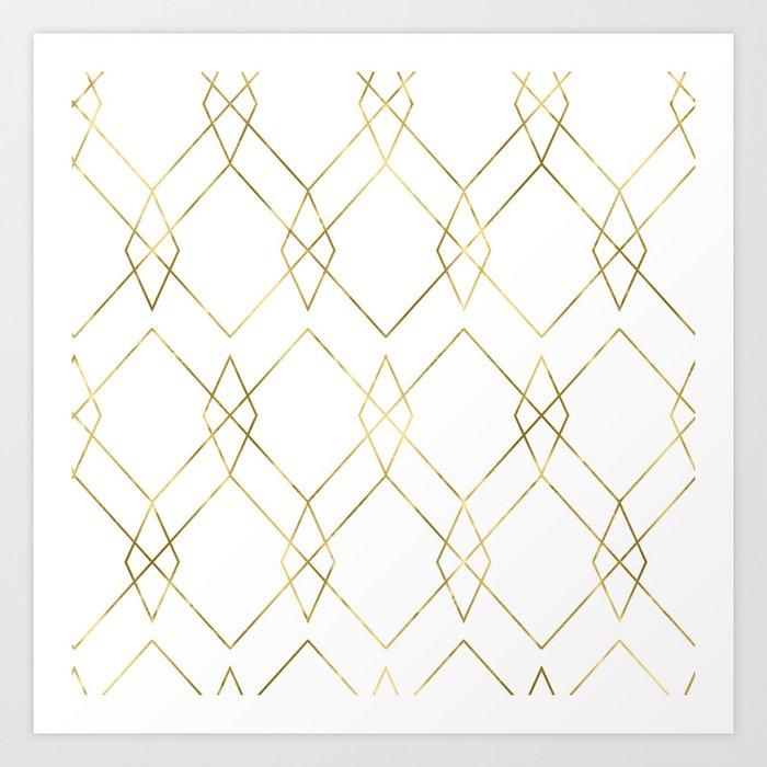 Gold Geometric Art Print