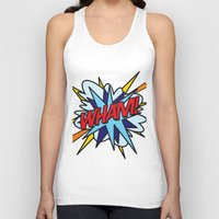 comic book Tank Tops featuring Comic Book WHAM! by Thisisnotme