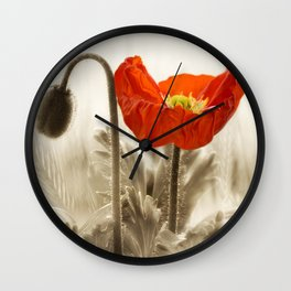 Poppy Red 0171 Wall Clock