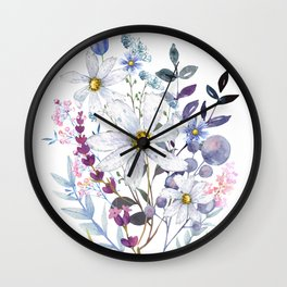 Wildflowers V Wall Clock