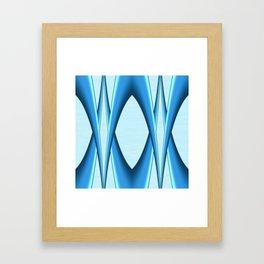 Two Tone Blue Modern Digital Art Framed Art Print