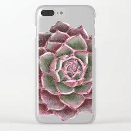 Echeveria 'Dusty Rose' Clear iPhone Case