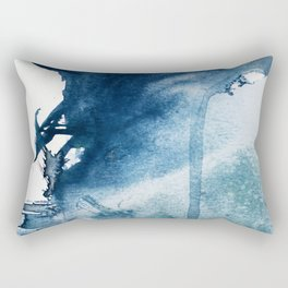 Pacific Grove: a pretty minimal abstract piece in blue by Alyssa Hamilton Art Rectangular Pillow