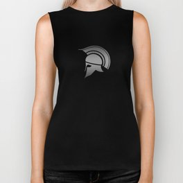 Ancient Greek Spartan Helmet Biker Tank