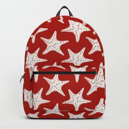 Maritime Red & White Starfish Pattern- Mix & Match with Simplicity of Life Backpack