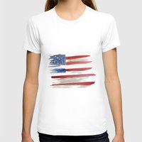 american flag T-shirts featuring American Flag by Jenny Highsmith