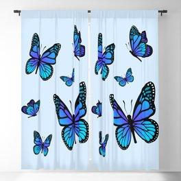 Butterfly Blues   Blue Morpho Butterflies Collage Blackout Curtain