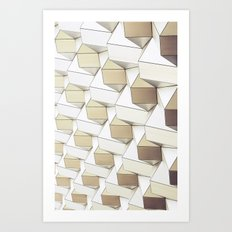 Golden Shapes - for iphone Art Print