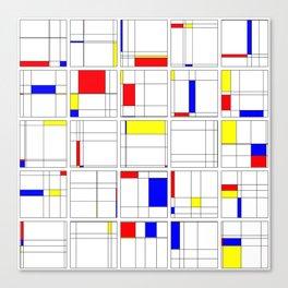 "Math Art Digital Print - ""mondRian"" Canvas Print"