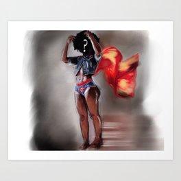 Who's Super Woman? Art Print