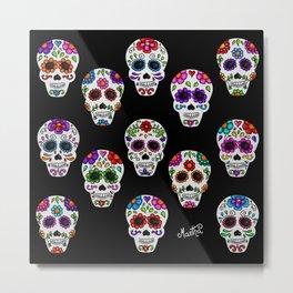 Martha´s mexican skulls (calacas) I Metal Print