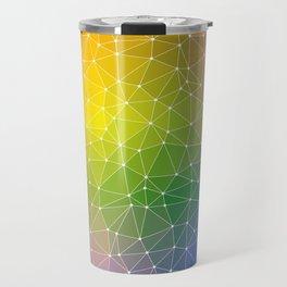 Triangulated Rainbow Dotted Pattern Travel Mug