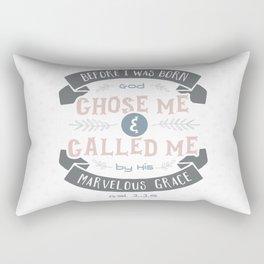 """""""Called"""" Hand-Lettered Bible Verse Rectangular Pillow"""