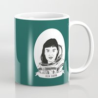 helen Mugs featuring Helen Sharman Illustrated Portrait by Illustrated Women in History
