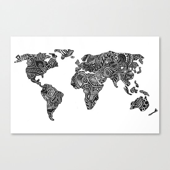World Canvas Print