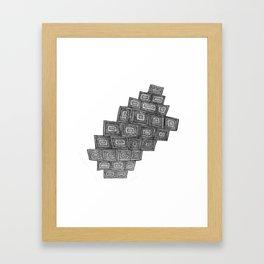 Precarious Boxes Framed Art Print