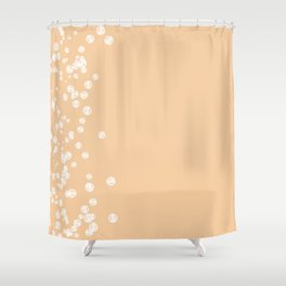 Stone Bubbles on Peach Shower Curtain