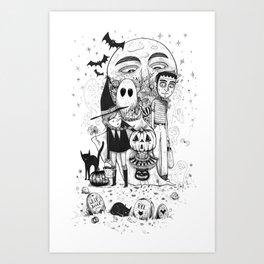 Halloween toothache Art Print