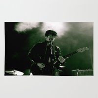alex turner Area & Throw Rugs featuring Alex by The Electric Blue / Yen-Hsiang Liang (Gr