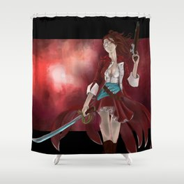Kitsune the Red Shower Curtain