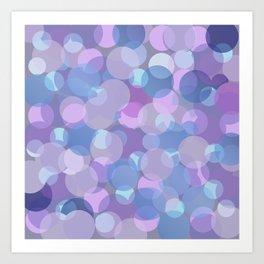 Pastel Pink and Blue Balls Art Print