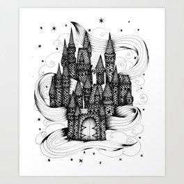 Super Magic Dream Castle Art Print
